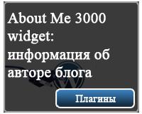 настройка плагина About Me 3000 widget