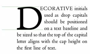 Большая первая буква абзаца автоматически и вручную