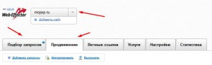 интерфейс webeffector