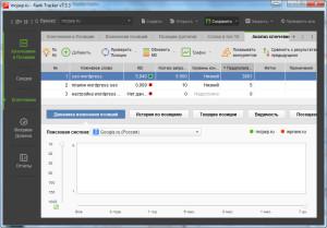 Rank Tracker - софт для съема позиций и улучшения видимости сайта в ПС
