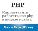 php в виджете wordpress