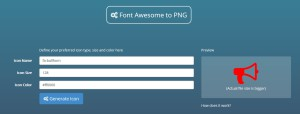 Перегоняем иконки шрифта Font Awesome в PNG