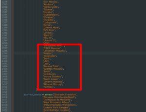 Как в плагин Soccer Info добавить иконки команд и исправить названия