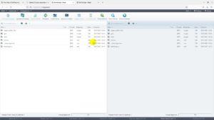 Интерфейс файлового менеджера на хостинге